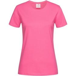 textil Dame T-shirts m. korte ærmer Stedman  Sweet Pink