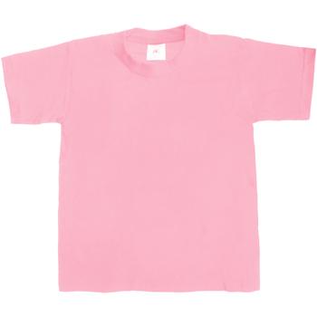 textil Børn T-shirts m. korte ærmer B And C Exact 190 Pink Sixties