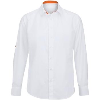 textil Herre Skjorter m. lange ærmer Alexandra Hospitality White/ Orange