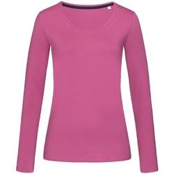 textil Dame Langærmede T-shirts Stedman Stars  Cupcake Pink