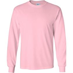 textil Herre Langærmede T-shirts Gildan 2400 Light Pink