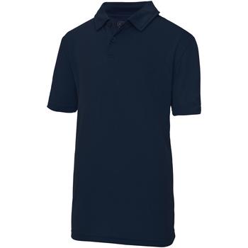 textil Børn Polo-t-shirts m. korte ærmer Just Cool  French Navy