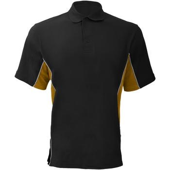 textil Herre Polo-t-shirts m. korte ærmer Gamegear KK475 Black/Gold/White