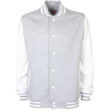 textil Jakker Fdm FV001 Heather Grey/White