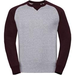 textil Herre Sweatshirts Russell R264M Light Oxford/Burgundy Melange