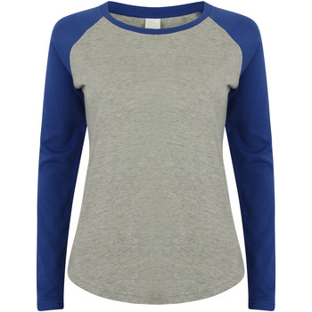 textil Børn Langærmede T-shirts Skinni Fit SM271 Heather Grey / Royal
