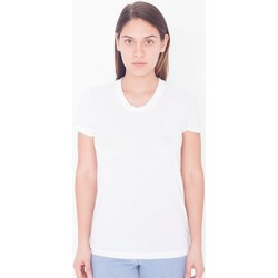 textil Dame T-shirts m. korte ærmer American Apparel PL301W White