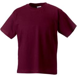 textil Børn T-shirts m. korte ærmer Jerzees Schoolgear ZT180B Burgundy