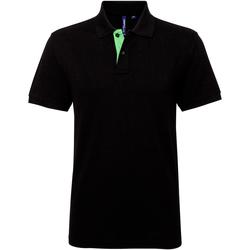 textil Herre Polo-t-shirts m. korte ærmer Asquith & Fox AQ012 Black/ Lime