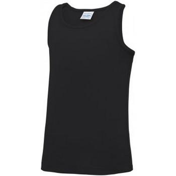 textil Børn Toppe / T-shirts uden ærmer Awdis JC007B Jet Black