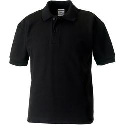textil Dreng Polo-t-shirts m. korte ærmer Jerzees Schoolgear 539B Black