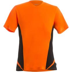 textil Herre T-shirts m. korte ærmer Gamegear KK969 Fluorescent Orange/Black