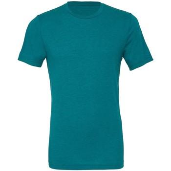 textil Herre T-shirts m. korte ærmer Bella + Canvas CA3413 Teal Triblend