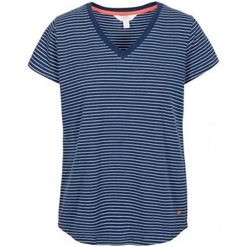 textil Dame T-shirts m. korte ærmer Trespass Konnie Navy Stripe