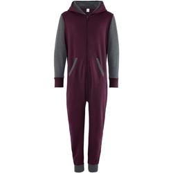 textil Børn Buksedragter / Overalls Comfy Co CC03J Burgundy/Charcoal