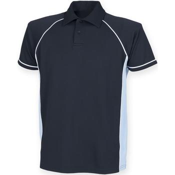 textil Herre Polo-t-shirts m. korte ærmer Finden & Hales Piped Navy/Sky/White