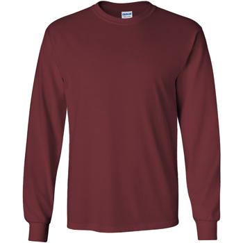 textil Herre Langærmede T-shirts Gildan 2400 Maroon