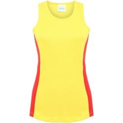 textil Dame Toppe / T-shirts uden ærmer Awdis JC016 Sun Yellow/Fire Red