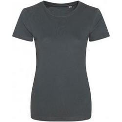 textil Dame T-shirts m. korte ærmer Ecologie EA01F Charcoal