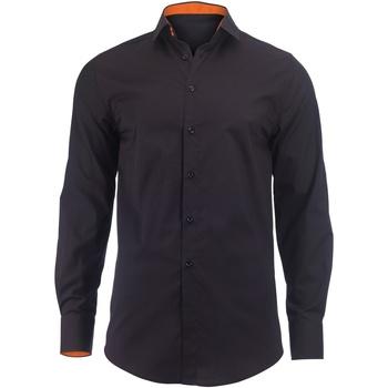 textil Herre Skjorter m. lange ærmer Alexandra Hospitality Black/ Orange