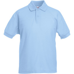 textil Dreng Polo-t-shirts m. korte ærmer Fruit Of The Loom 63417 Sky Blue