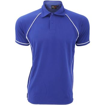 textil Herre Polo-t-shirts m. korte ærmer Finden & Hales Piped Royal/White