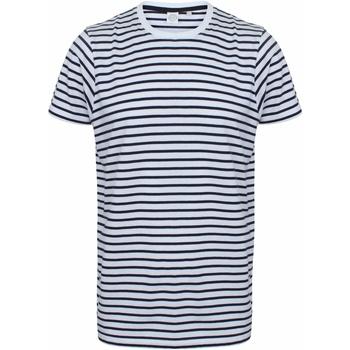 textil T-shirts m. korte ærmer Skinni Fit SF202 White/Oxford Navy
