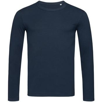 textil Herre Langærmede T-shirts Stedman Stars  Marina Blue