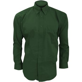 textil Herre Skjorter m. lange ærmer Kustom Kit KK105 Bottle Green