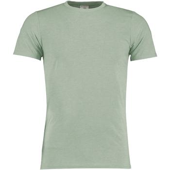 textil Herre T-shirts m. korte ærmer Kustom Kit KK504 Sage Marl