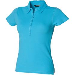 textil Dame Polo-t-shirts m. korte ærmer Skinni Fit SK042 Surf Blue