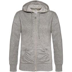 textil Dame Sweatshirts B And C WW641 Heather Grey