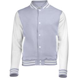 textil Børn Jakker Awdis JH43J Heather Grey/White