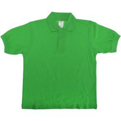 textil Børn Polo-t-shirts m. korte ærmer B And C PK486 Real Green