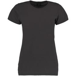 textil Dame T-shirts m. korte ærmer Kustom Kit Superwash Dark Grey Marl