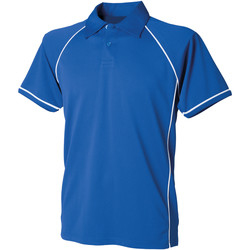 textil Børn Polo-t-shirts m. korte ærmer Finden & Hales LV372 Royal/White