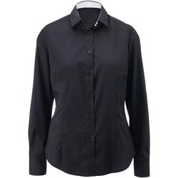 textil Dame Skjorter / Skjortebluser Alexandra AX060 Black/ White