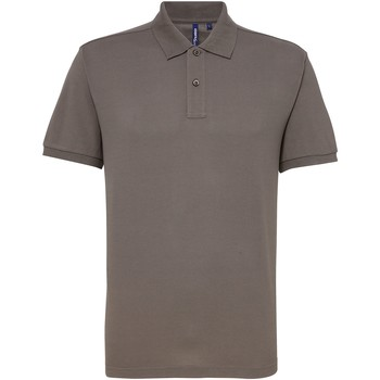 textil Herre Polo-t-shirts m. korte ærmer Asquith & Fox AQ015 Slate