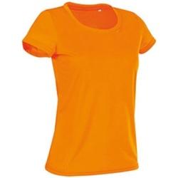 textil Dame T-shirts m. korte ærmer Stedman Cotton Touch Cyber Orange