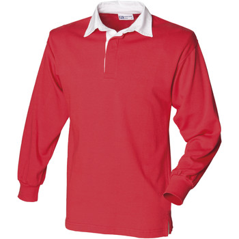 textil Herre Polo-t-shirts m. lange ærmer Front Row FR100 Red/White