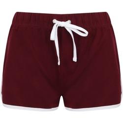 textil Dame Shorts Skinni Fit SK69 Burgundy/White
