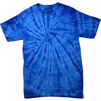 textil T-shirts m. korte ærmer Colortone Tonal Spider Royal