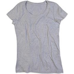 textil Dame T-shirts m. korte ærmer Stedman Stars Lisa Heather Grey