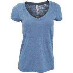 textil Dame T-shirts m. korte ærmer Bella + Canvas Burnout Steel Blue