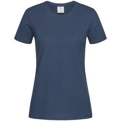 textil Dame T-shirts m. korte ærmer Stedman Comfort Navy