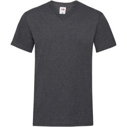 textil Herre T-shirts m. korte ærmer Fruit Of The Loom 61066 Dark Heather