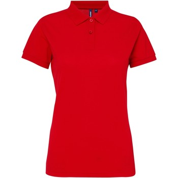 textil Dame Polo-t-shirts m. korte ærmer Asquith & Fox AQ025 Cherry Red