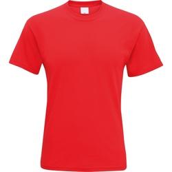 textil Herre T-shirts m. korte ærmer Universal Textiles 61082 Bright Red