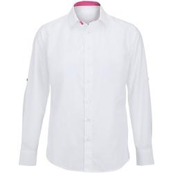 textil Herre Skjorter m. lange ærmer Alexandra Hospitality White/ Pink