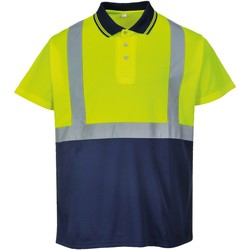 textil Herre Polo-t-shirts m. korte ærmer Portwest  Yellow/ Navy